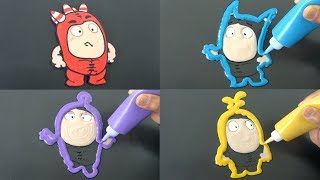 Oddbods Pancake Art - Fuse, Pogo, Bubbles, Jeff | Coloring for Kids