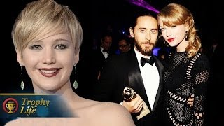 Taylor Swift Flirting with Jared Leto & Jennifer Lawrence's Big Golden Globes 2014 Win