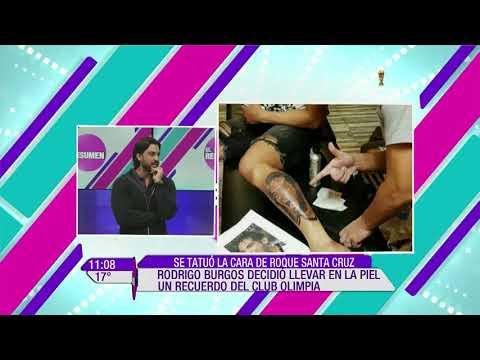 Rodrigo Burgos se tatuó la cara de Roque Santa Cruz