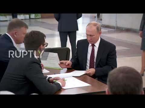 Russia: Putin Casts Vote In Moscow City Council Elections
