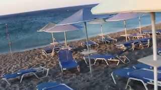 Море Ливийское  при  северном ветре в  Coriva Beach 3*   Crete  Крит Greece Греция(Видео оставила с естественными звуками - обрывками фраз моих и порывах ветра, чтобы передать полную картину..., 2015-08-06T12:21:54.000Z)