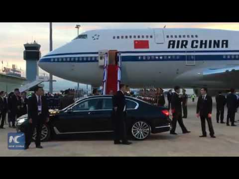 24524 politics Welt New China Chinese premier arrives in Laos for visit, East Asia leaders' meetings
