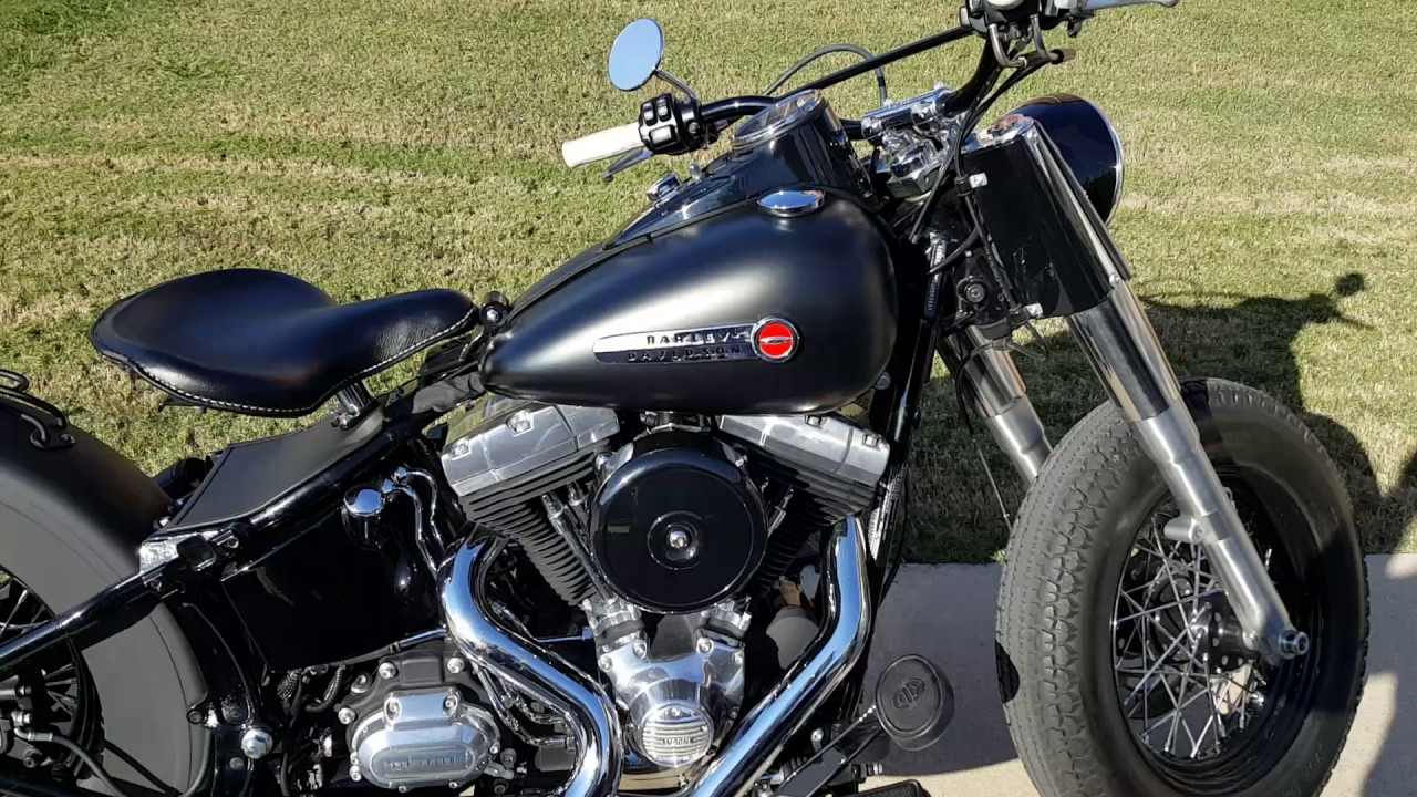 Softail Slim with S&S 570 cams - YouTube