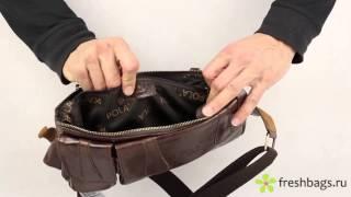 Кожаная мужская поясная сумка Pola 0213 - www.FreshBags.ru(, 2015-02-06T13:49:21.000Z)