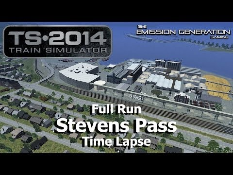 Stevens Pass Full Run - Time Lapse - Train Simulator 2014