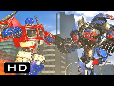 Transformers: Movie Optimus Prime VS G1 Optimus Prime Fight Scene Animation