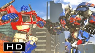 Transformers: Movie Optimus Prime VS G1 Optimus Prime Fight Scene Animation
