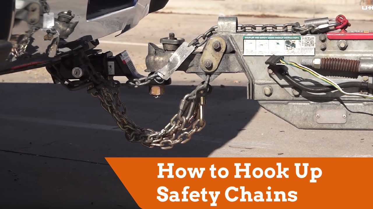 How To Hook Up Safety Chains Your Vehicle Youtube Trailer Brake Breakaway Wiring Diagram