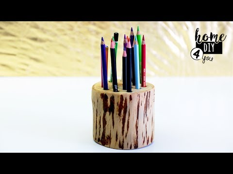 DIY - Wood Pencil Holder - Home Decor Project