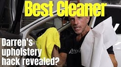 Best Car Upholstery Cleaner: clean car upholstery using Darren's hack