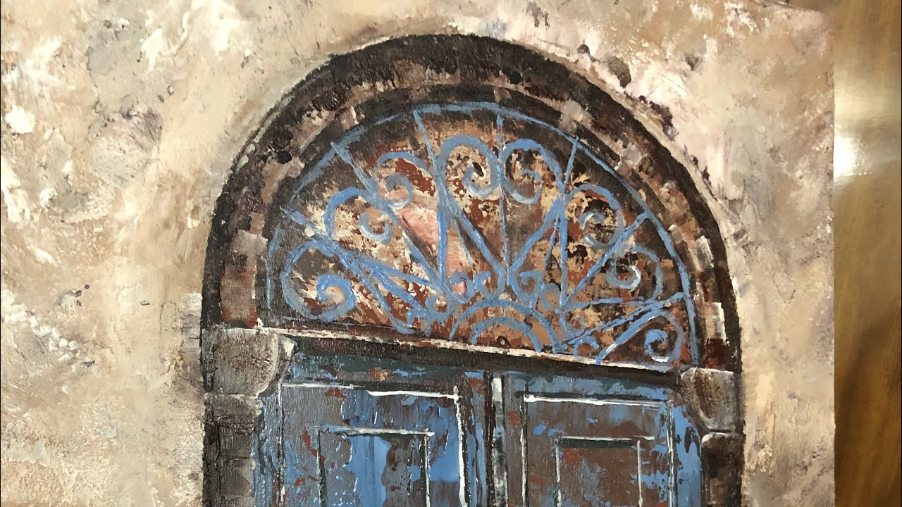 رسم أبواب قديمة تعتيق How To Paint Old Doors إيمان المغربي Youtube