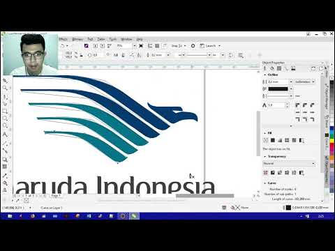 Tips Rahasia Saya Belajar Desain Secara Cepat membuat logo GARUDA PANCASILA.