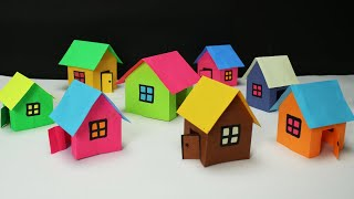 Wow! Paper House making- very easy- Paper Craft