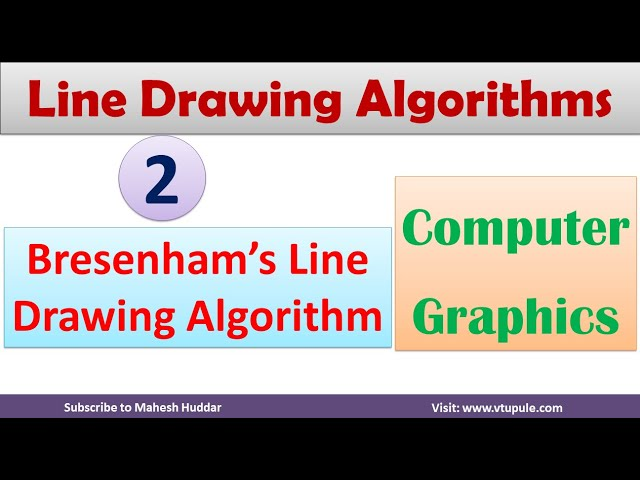 2. Bresenham's Algorithm | Line Drawing Algorithm | Computer Graphics Line Drawing by Mahesh Huddar