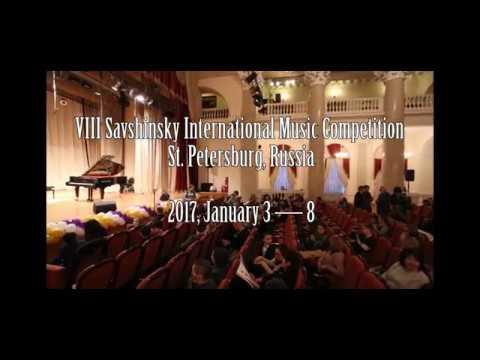 VIII Savshinsky International Music Competition  St. Petersburg, Russia  2017, January 3 — 8