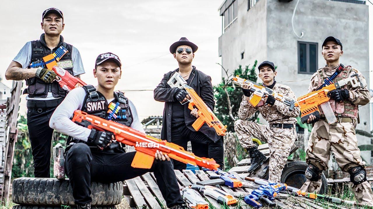 LTT Nerf War : Perfect Squad SEAL X Warriors Nerf Guns Fight Famous Bandits Dr Ken Crazy