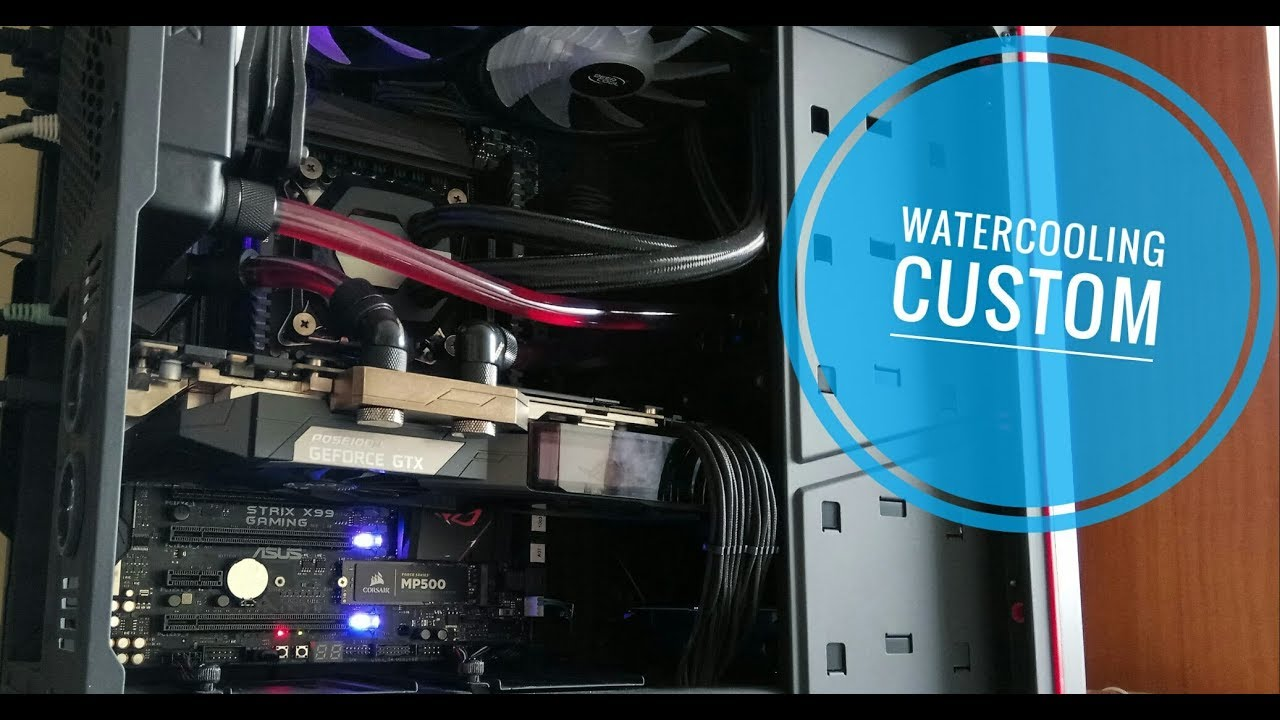 Watercooling Custom Pour Ma Carte Graphique Gtx 1080 Ti Youtube