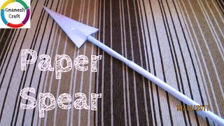 How to make paper spear easy / Gnanesh craft