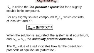 Solubility product and Ionic product