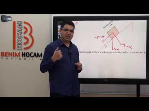 18) Mustafa MARAŞ  -Dinamik (Newton'un Hareket Yasaları)-3  (AYT- FİZİK) 2020
