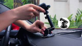 Installation Mpow Car Phone Holder Washable Strong Sticky Gel Pad Car Phone Mount🚗🚕