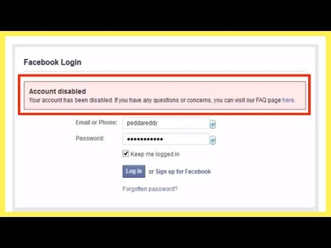 """How to get back your disabled account in Facebook  Fix """"Facebook account is disabled"""""""