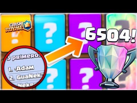 ¡¿ CON QUE LLEGÓ EL TOP 1 MUNDIAL A 6500 COPAS ?! - Clash Royale [WithZack]