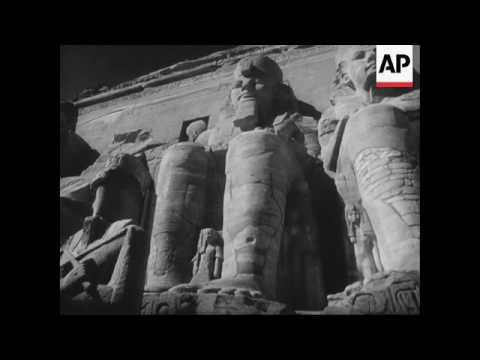 Work beings to salvage treasures of Abu Simbel 3200 year old temples of Rameses II and Queen Neferta