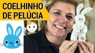 COELHO DE PELÚCIA PIPO PARA PÁSCOA