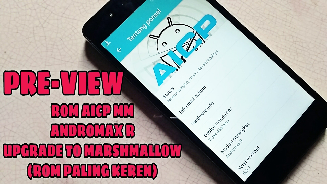 ROM AICP Marshmallow 6 0 1 Andromax R - Preview (Upgrade Andromax R ke  Marshmallow)