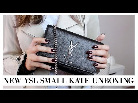 DOES IT FIT AN IPHONE 8+ ?? || YSL Small Kate Unboxing || Eliana Jalali