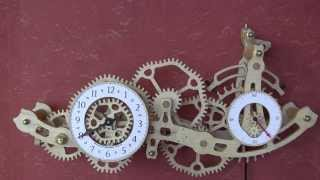 Brian Law's Woodenclocks-clock 18 Clock With Non-circular Gears