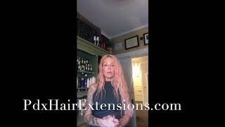 PDX hair Extensions, Tape in Hair Extension tutorial