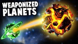 Epic Planet Battles - DEATH STAR LASER DESTROYS PLANETS - (Worbital Gameplay Part 1)