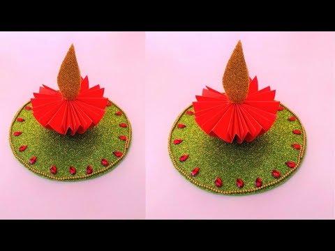 DIY Paper Diya Decoration With Foam Sheet | Diwali Decorations at Home | Diwali Crafts |