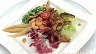 Салат из индейки с орехами