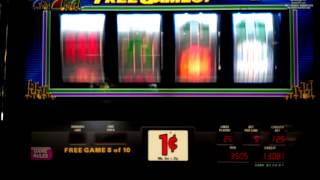 IGT Double Jackpot 777 slot - Chasing the $610 Progressive - 4 Bonuses