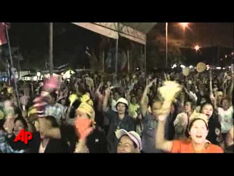 Raw Video: Anti-government Protest in Thailand