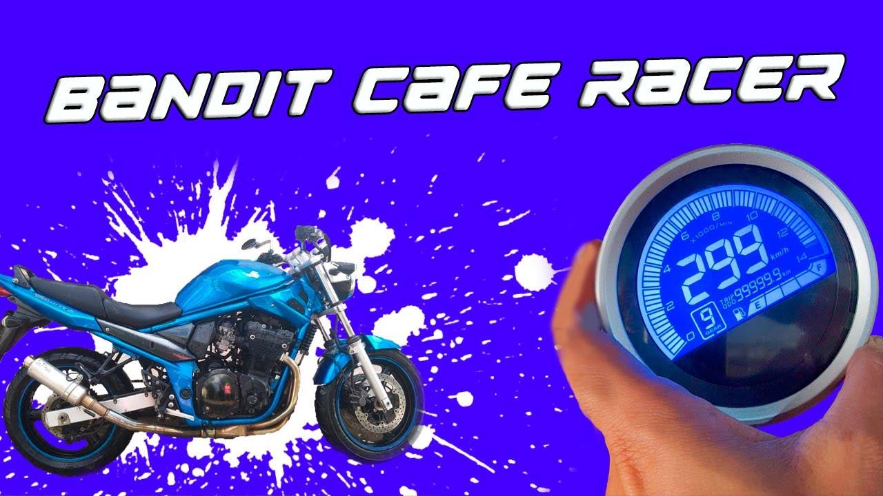 Novo painel Cafe Racer na Bandit
