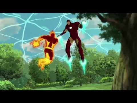Ultimate Spider Man Web Warriors - Spider-Man vs Wendigo, Hulk vs Kraven, Iron Man vs Molten Man