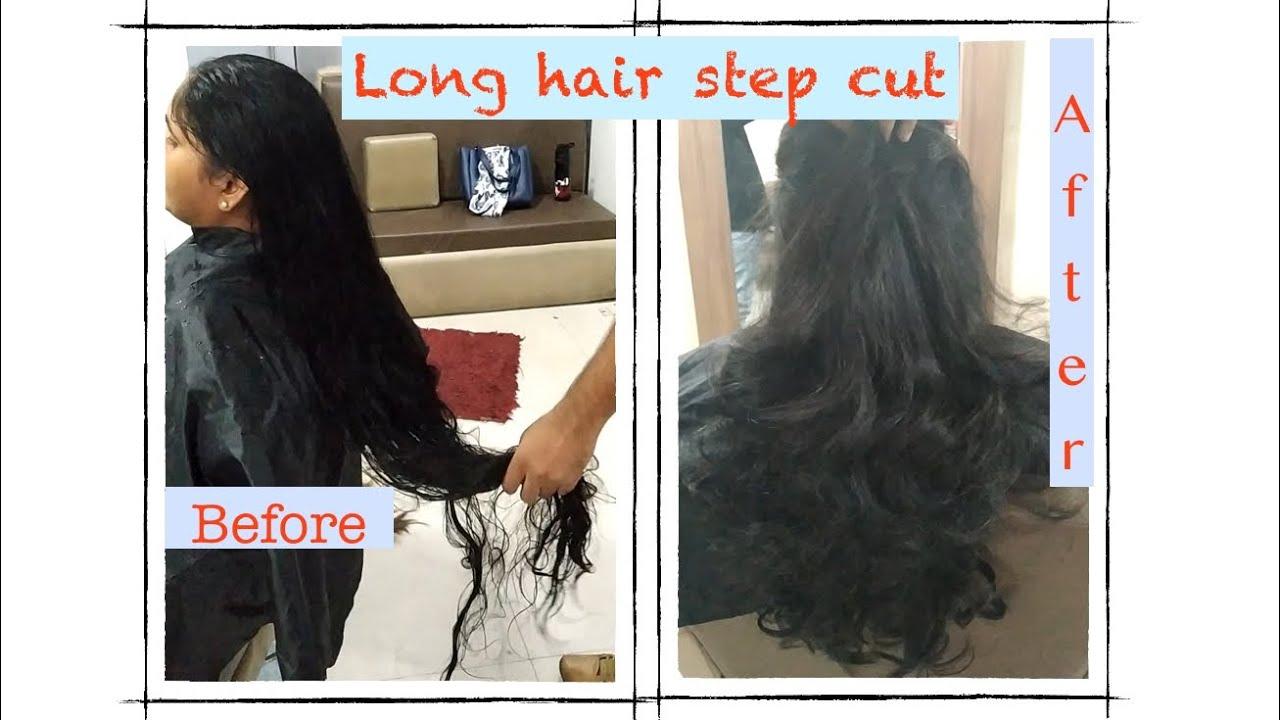 #Long hair step cut in #Jawed Habib #long haircut #stepcut for long hair