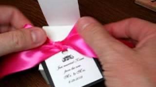 Tie Ribbon Onto Wedding Favor Box