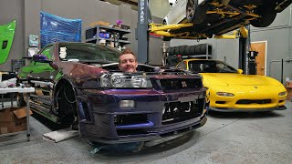 R34 is coming together! + barra goes to car meet