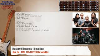 Download lagu Master Of Puppets Metallica MAIN Guitar Backing Track with chords and lyrics MP3