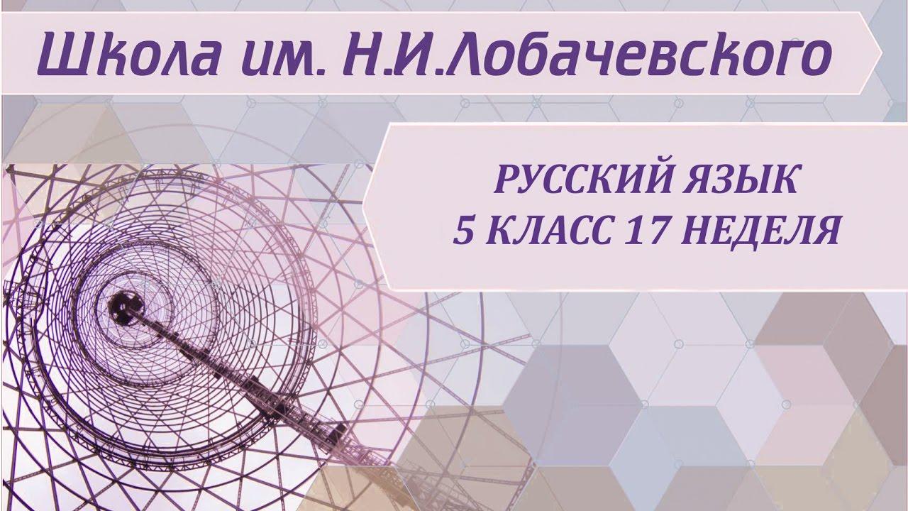 русский язык 5 класс 17