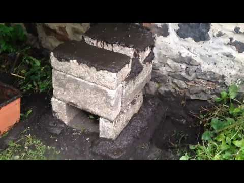 Building a mud and brick furnace For melting aluminium (aluminum) and copper