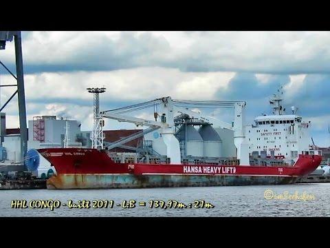 HHL CONGO V2FH8 IMO 9467005 Emden heavy lift cargo seaship merchant vessel Seeschiff