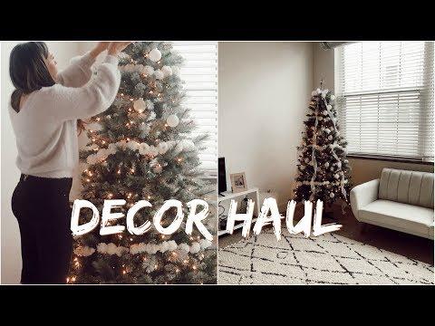 DECORATE WITH US 🎄 DECOR HAUL | Franceska Garza Vlog
