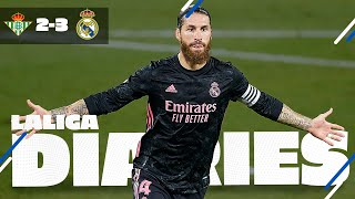 Join real madrid on the road as zinedine zidane's side secured a late win at betis, thanks to captain sergio ramos' 'panenka' penalty benito...