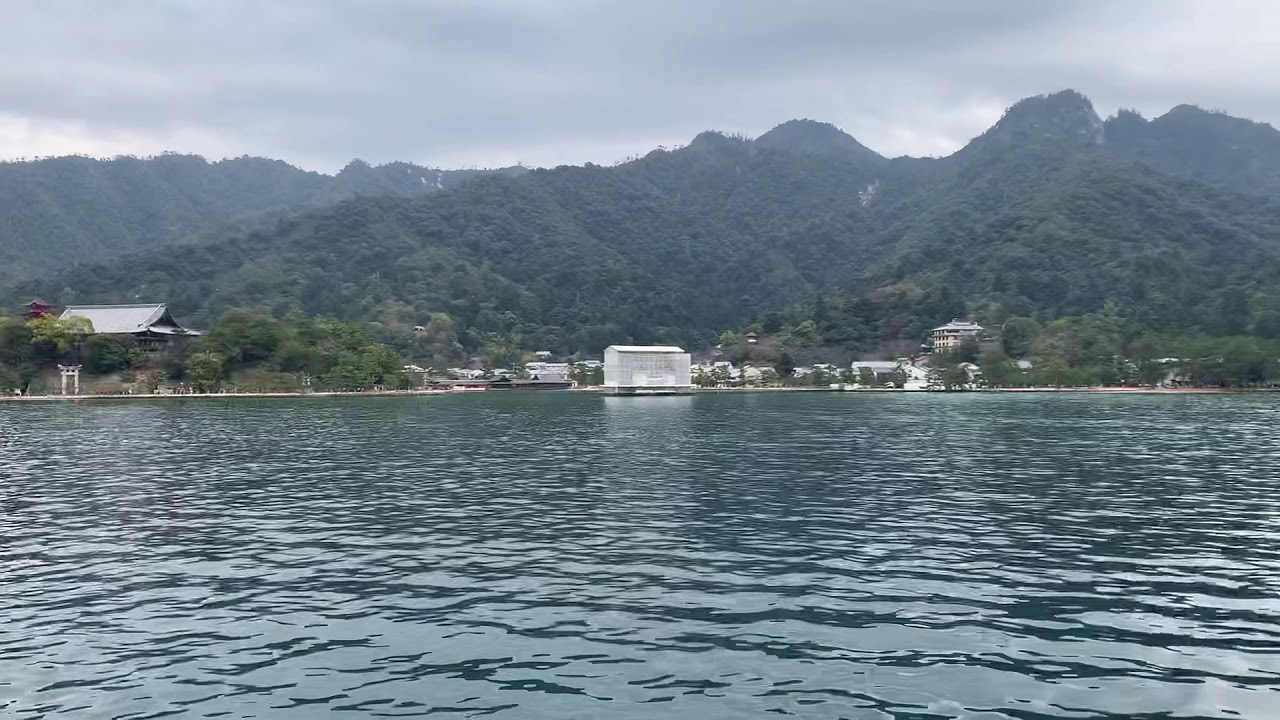 鳥居 工事 神社 厳島